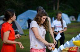 Закончилась смена палаточного лагеря «Парус надежды»