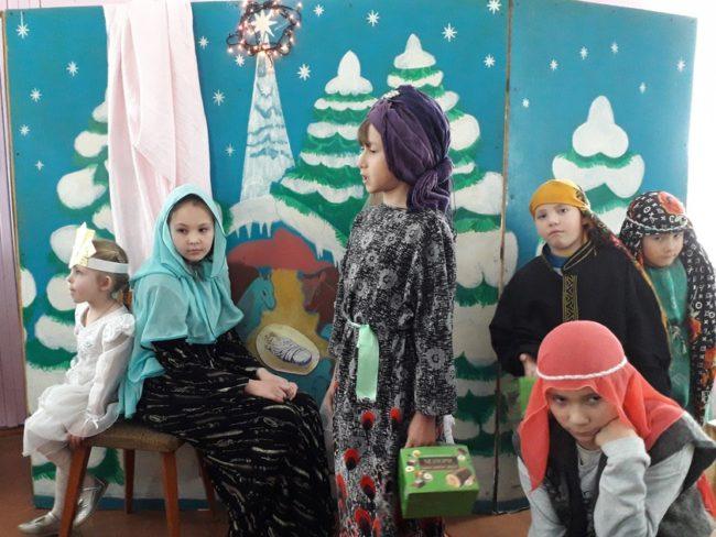 Рождественский детский утренник в селе Баргузин