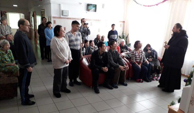 Рождественская встреча с жильцами Баргузинского дома-интерната